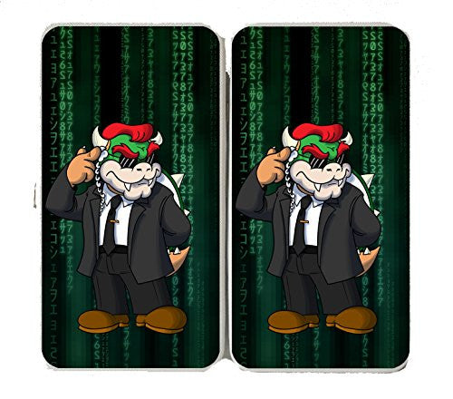 'Plumbtrix' Villain w/ Suit & Earpiece Funny Video Game & Computer Science Fiction Movie Parody - Taiga Hinge Wallet Clutch