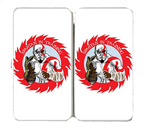 'Spartan In Training' Cartoon Red & White - Taiga Hinge Wallet Clutch