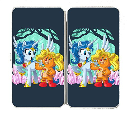 'Enchanted Sun Moon Meeting' Funny Animal Cartoon Parody - Taiga Hinge Wallet Clutch