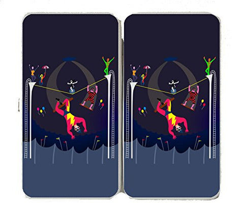 'Acrobats at Circus' Colorful Artwork - Taiga Hinge Wallet Clutch