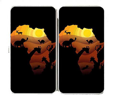 'African Animals' Sahara Bush Wildlife - Taiga Hinge Wallet Clutch