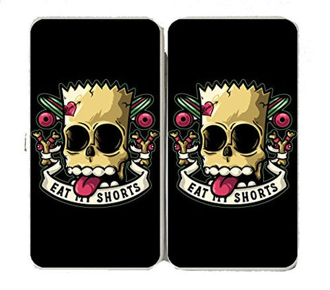 'Bad to the Bone' Cartoon Parody - Taiga Hinge Wallet Clutch