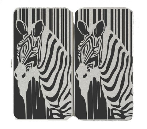 Zebra Animal Horse Logo - White Taiga Hinge Wallet Clutch