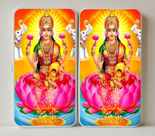 Hindu Goddess of Wealth Lakshmi Prosperity - Taiga Hinge Wallet