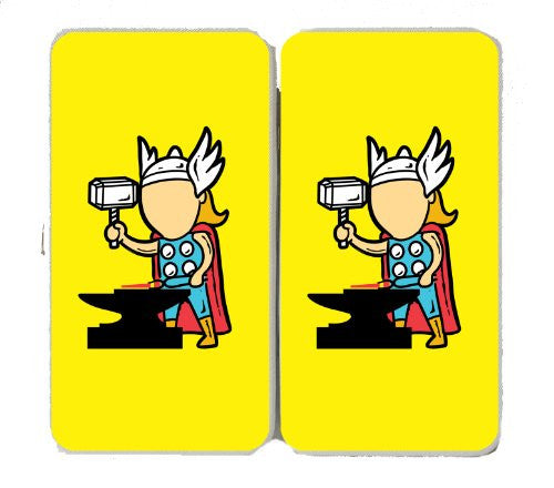 'Part-Time JOB Factory' Super Hero Forging Metal w/ Hammer - Taiga Hinge Wallet Clutch