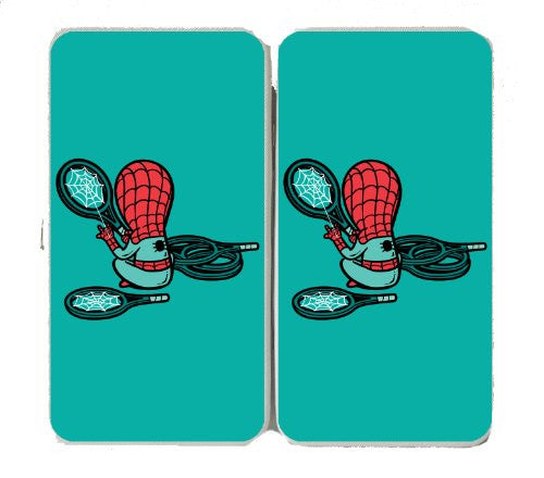 'Part-Time JOB Sport Shop' Super Hero Stringing Racquets - Taiga Hinge Wallet Clutch
