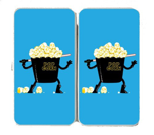 'Pop Corn Kingdom' Space Movie Parody w/ Popcorn & Sword - Taiga Hinge Wallet Clutch