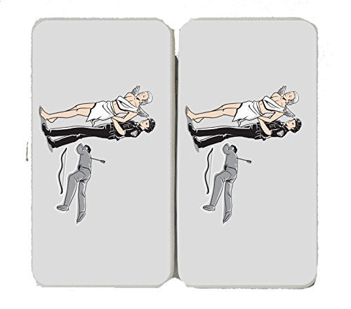 'Murder Cupid' Funny Bow & Arrow Death Parody - Taiga Hinge Wallet Clutch