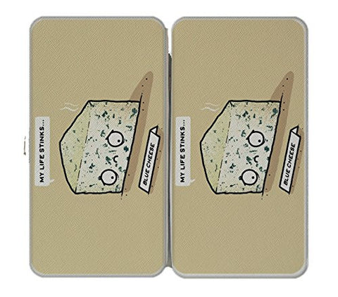 'Blue Cheese' Sad Food Humor - Taiga Hinge Wallet Clutch