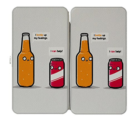 'Bottled Up' Beverage Feelings Humor - Taiga Hinge Wallet Clutch