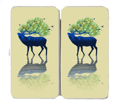 Elk of Nature Animal Artwork Design - Taiga Hinge Wallet Clutch