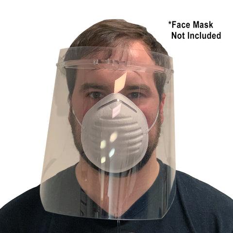Personal Protective Equipment Anti-fog Adjustable Full Face Shield Mask with Reusable Plastic Protective Film