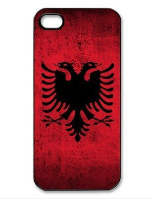 Personalized iPhone 4 case iPhone 4s case - Albania Flag -plastic iphone 4s cover