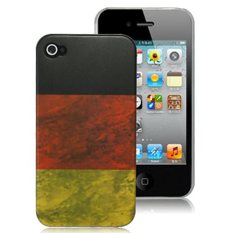 Retro Matte National Flag Of Germany Hard Plastic Case For iPhone 4 / 4S