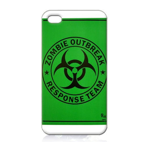Zombie Outbreak Response Team Hard Case Cover for Iphone 4 4s 4th Generation - Plastic Box