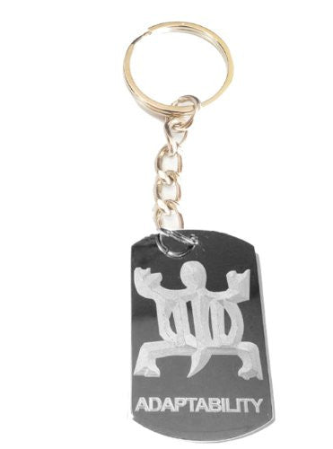 International Symbol for Adaptability Logo Symbols - Metal Ring Key Chain Keychain
