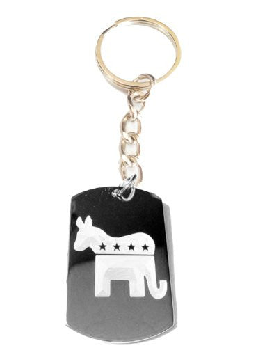 Republican Democrat Democratic Party Donkey Elephant Party Political Vote Election 2012 Logo Symbols - Metal Ring Key Chain Keychain