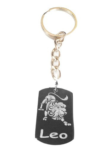 Zodiac Signs Sign LEO Lion Logo - Metal Ring Key Chain Keychain