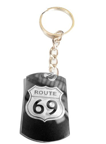 Route 69 Novelty Funny Sexy Street Sign Logo Symbol - Metal Ring Key Chain Keychain