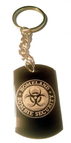 Zombie Outbreak Response Team Zort Z.o.r.t Homeland Security Classic Biohazzard Logo Symbols - Metal Ring Key Chain