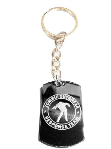 Zombie Outbreak Response Team Zort Z.o.r.t Walking Dead MAN Outline Logo Symbols - Metal Ring Key Chain Keychain