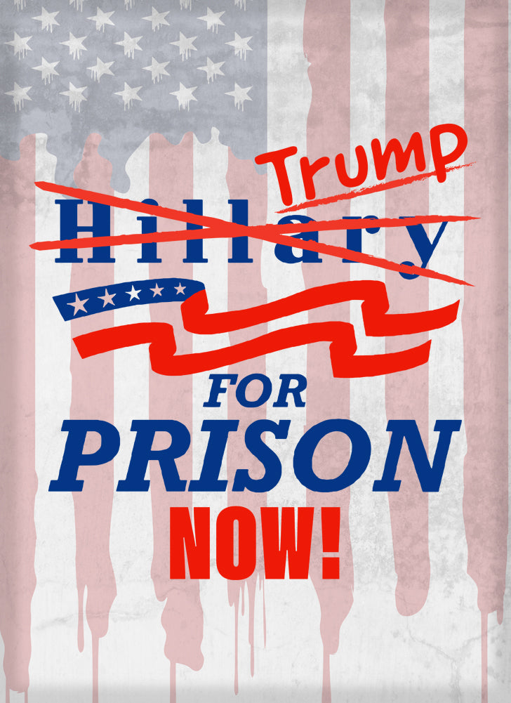 Rectangle Refriger Magnet - Trump for Prison Now! Presidential Parody Design