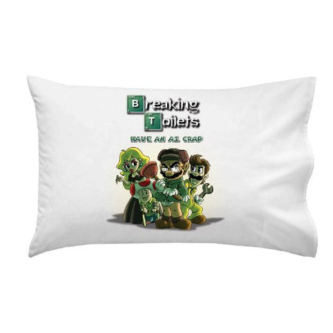 'Breaking Toilets' Video Game Parody Heisenberg Drug King Pin Tv Colorful - Pillow Case Single Pillowcase