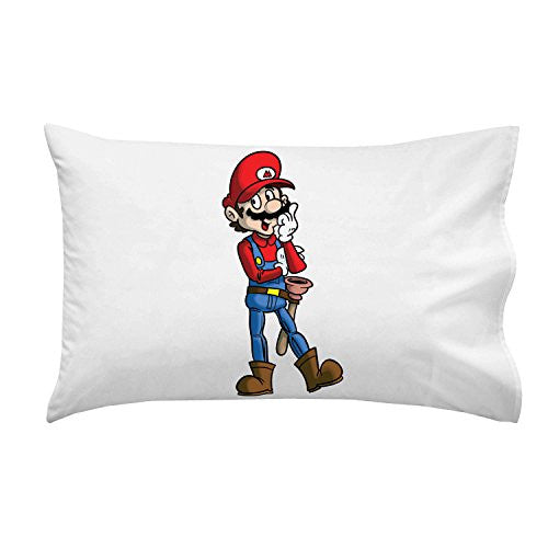 'Plumbing Story' Western Cowboy Hero Character Funny Video Game & Children's Cartoon Movie Parody - Pillow Case Single Pillowcase