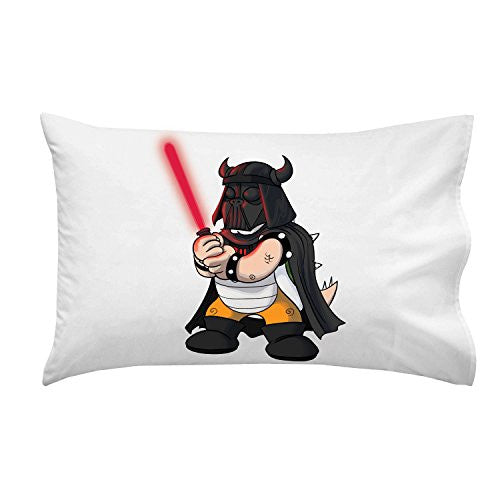 'Plumbing Wars' Helmet Villain Character Funny Video Game & Space Movie Parody - Pillow Case Single Pillowcase