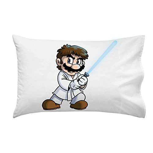 'Plumbing Wars' Main Hero Character Funny Video Game & Space Movie Parody - Pillow Case Single Pillowcase