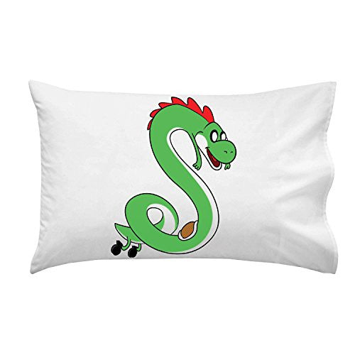 'Plumbing Time' Snake Creature Character Funny Video Game & TV Show Cartoon Parody - Pillow Case Single Pillowcase