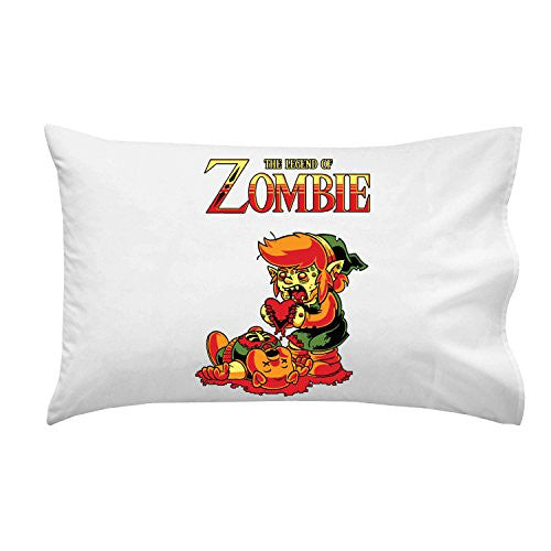Pillow Case Single Pillowcase - 'The Legend of Zombie' Classic Video Game Parody