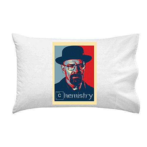 Pillow Case Single Pillowcase - 'Chemistry' TV Show Parody Poster Style Design