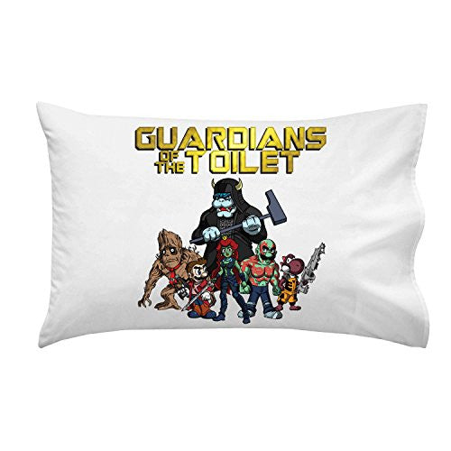 Pillow Case Single Pillowcase - 'Guardians of the Toilet' Super Hero Comic Parody