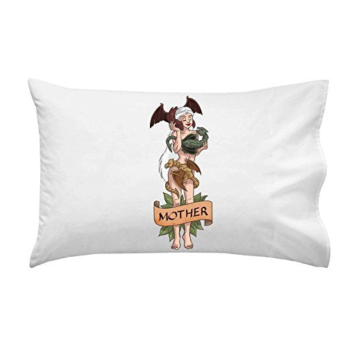 Pillow Case Single Pillowcase - 'Mother of Dragons' Medieval TV Show Parody