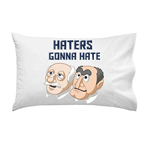 Pillow Case Single Pillowcase - 'Haters Gonna Hate' Classic Puppet Franchise Parody