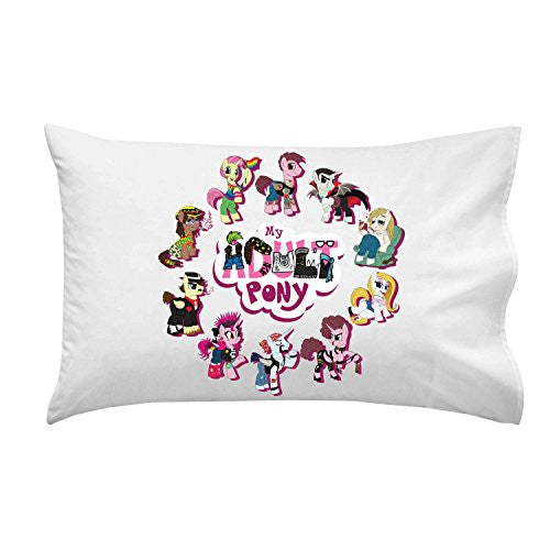 Pillow Case Single Pillowcase - 'My Adult Pony' Funny Animal Cartoon Parody