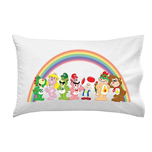Pillow Case Single Pillowcase - 'Plumbing Bears Group' Funny Video Game Parody