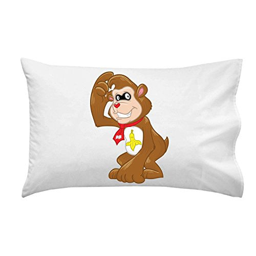 Pillow Case Single Pillowcase - 'Banana Kong Bear' Funny Video Game Parody