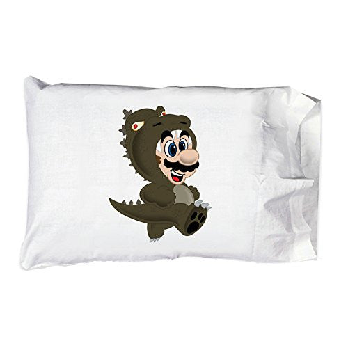 Pillow Case Single Pillowcase - 'Plumbzilla' Monster & Game Parody