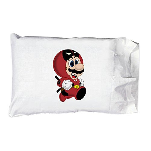 Pillow Case Single Pillowcase - 'Deadplumber' Hero & Game Parody