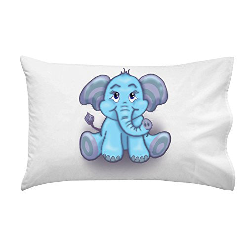 'Cute Lil Elephant' Funny Cute Animal Cartoon - Pillow Case Single Pillowcase