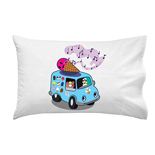 'Ice Cream Truck' Funny Ice Cream Cone Singing - Pillow Case Single Pillowcase