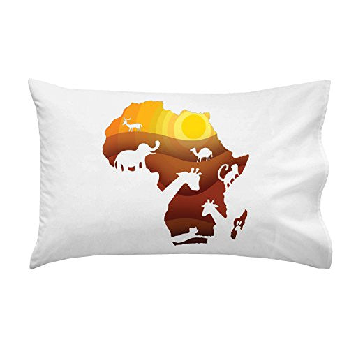 'African Animals' Sahara Bush Wildlife - Pillow Case Single Pillowcase