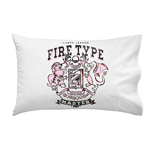 'Fire Type' Anime TV Show Parody - Pillow Case Single Pillowcase