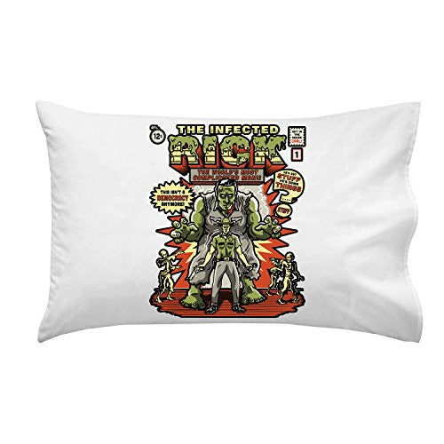 'The Infected Rick' TV Show Parody - Pillow Case Single Pillowcase