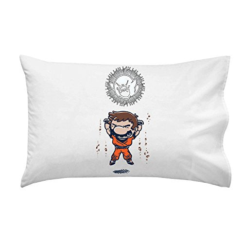 'Spirit Bomb' Cartoon & Video Game Parody - Pillow Case Single Pillowcase