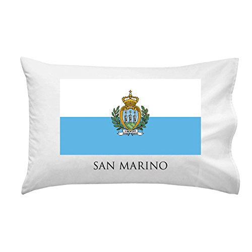 San Marino - World Country National Flags - Pillow Case Single Pillowcase