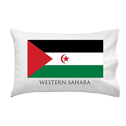 Western Sahara - World Country National Flags - Pillow Case Single Pillowcase