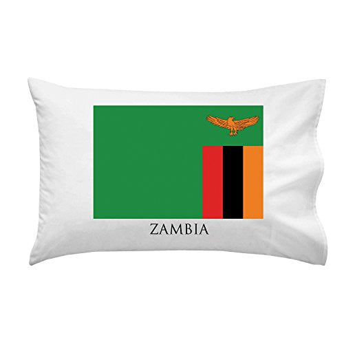 Zambia - World Country National Flags - Pillow Case Single Pillowcase